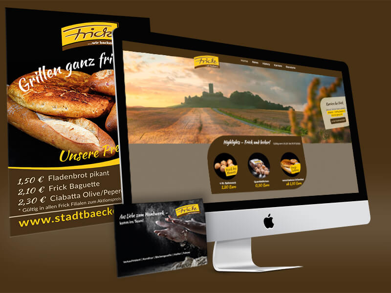 Referenz Stadtbäckerei Frick Sinsheim Webdesign Print Marketing