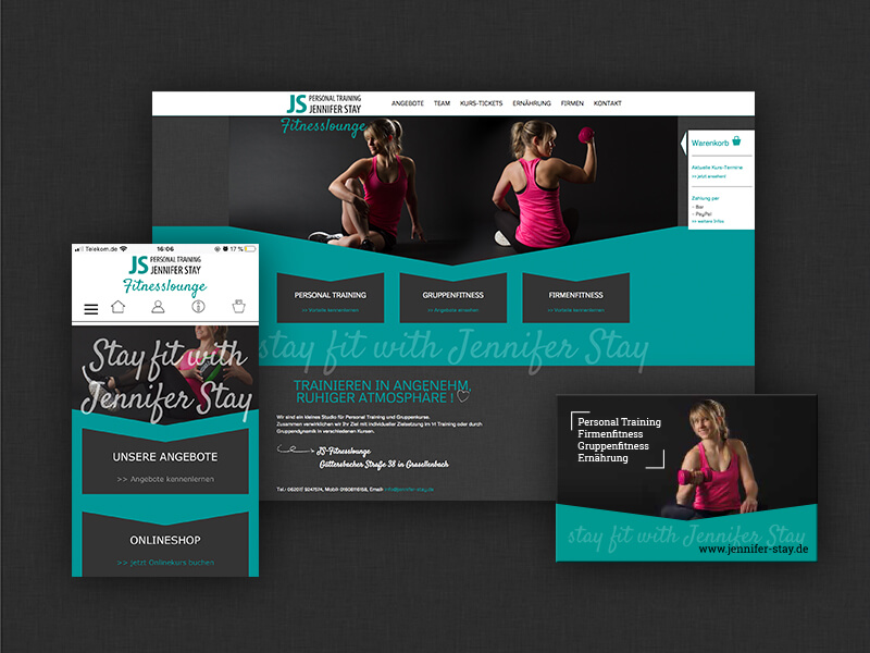 Referenz Jennifer Stay Online Shop Webdesign Odenwald
