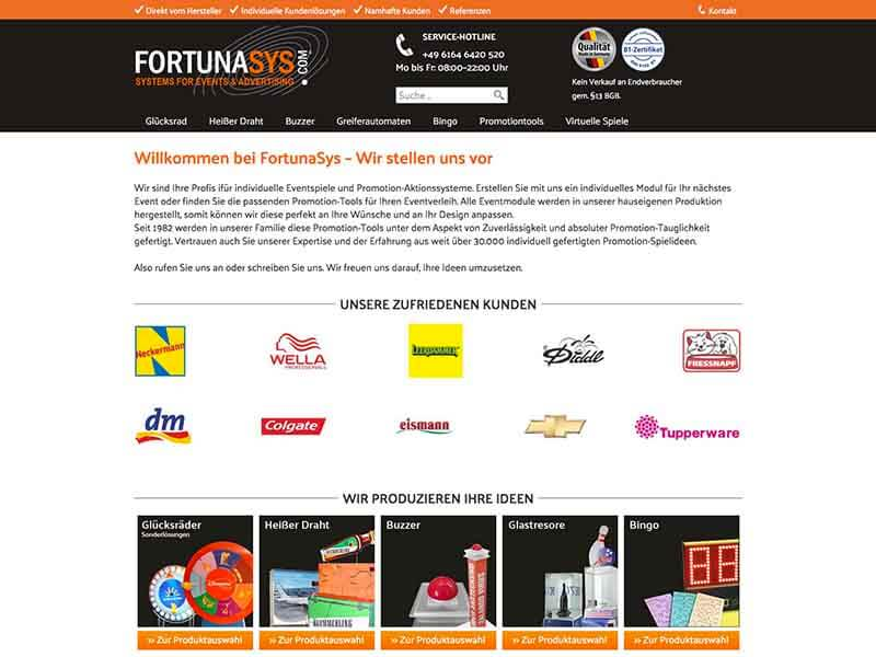 FortunaSys – Systems for Events & Advertising
